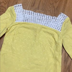 Lilly Pulitzer sunshine yellow embossed print top
